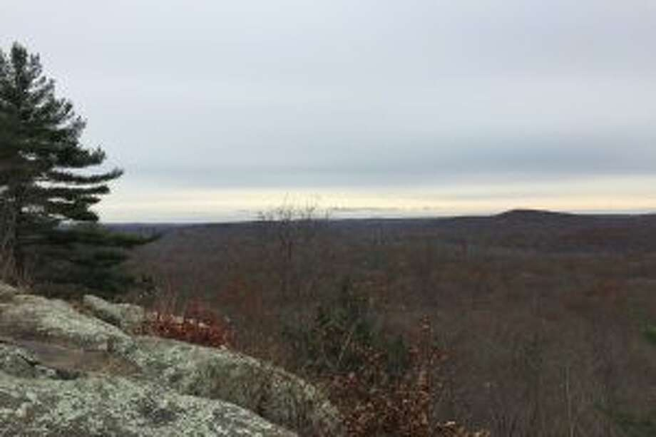 View from the Charles Ives cabin site at Pine Mountain in Ridgefield. — Rob McWilliams photo