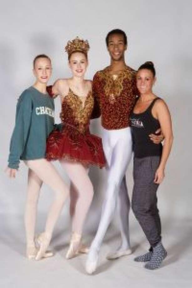 Molly Hayden (left), Amanda Coscia, Daniel White and Taylor Kowalsky will be performing in The Nutcracker. — Jay Misencik photo
