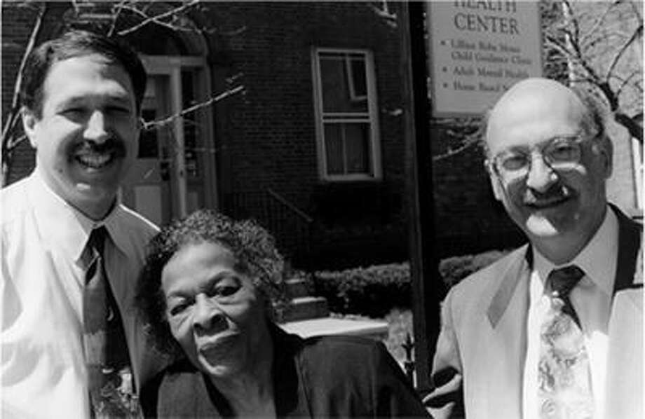 Community Health Center founder and CEO Mark Masselli, Reba Moses and Gerry Weitzman in Middletown Photo: Contributed Photo