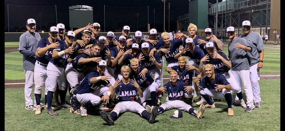 The Lamar baseball team earned a 10-5, 11-5 sweep of Memorial in the Region III-6A quarterfinals May 16-17 at Strake Jesuit. The Texans advanced to the regional semifinals for the first time in eight years. Photo: Lamar High School / Lamar High School