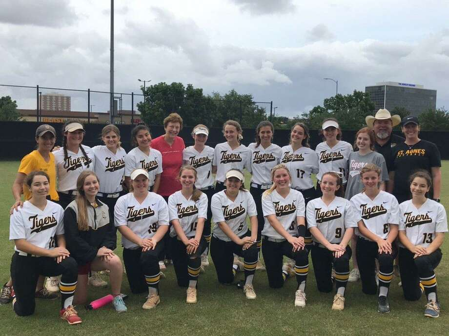 The St. Agnes softball team won its first TAPPS state championship in 10 years with a 3-2 triumph against Dallas Bishop Lynch. The Tigers defeated Incarnate Word, Beaumont Kelly Catholic and San Antonio Incarnate Word in the playoffs, outscoring opponents 19-2. Photo: St. Agnes Academy / St. Agnes Academy