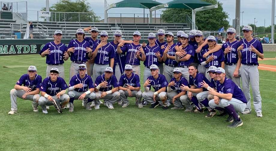 The Ridge Point baseball team advanced to its second Region III-6A semifinal in three years with a three-game series victory against Cy-Fair at Mayde Creek High School. The Panthers won the series 6-9, 9-0, 5-4. Photo: Jack Marrion / Staff Photo