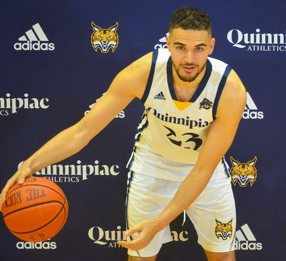 Aaron Falzon and the Quinnipiac men's basketball team will play three games during an upcoming five-day trip to Canada. Photo: Quinnipiac / Contributed Photo