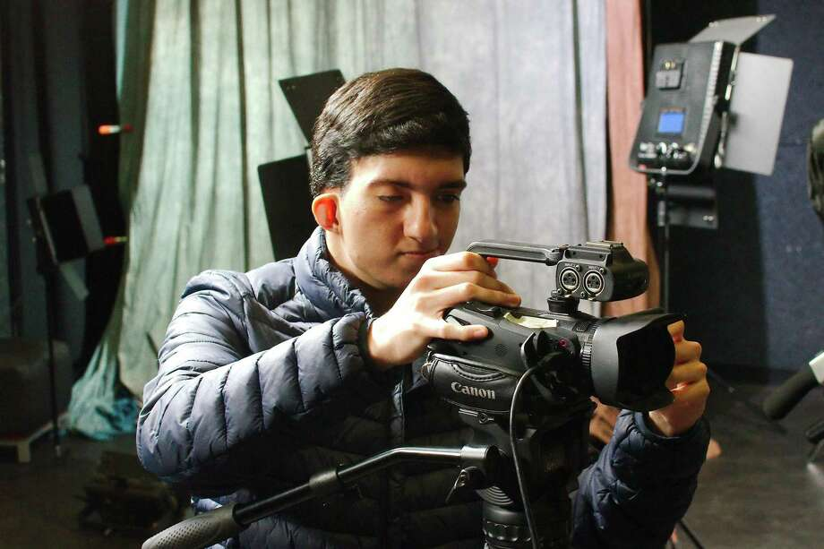 Graduating Lewis Career & Technical High School senior Eduardo Verastegui has built a large following on Youtube through videos that detail his life as a teenage Mexican immigrant in the United States. Photo: Kirk Sides / Staff Photographer / © 2019 Kirk Sides / Houston Chronicle
