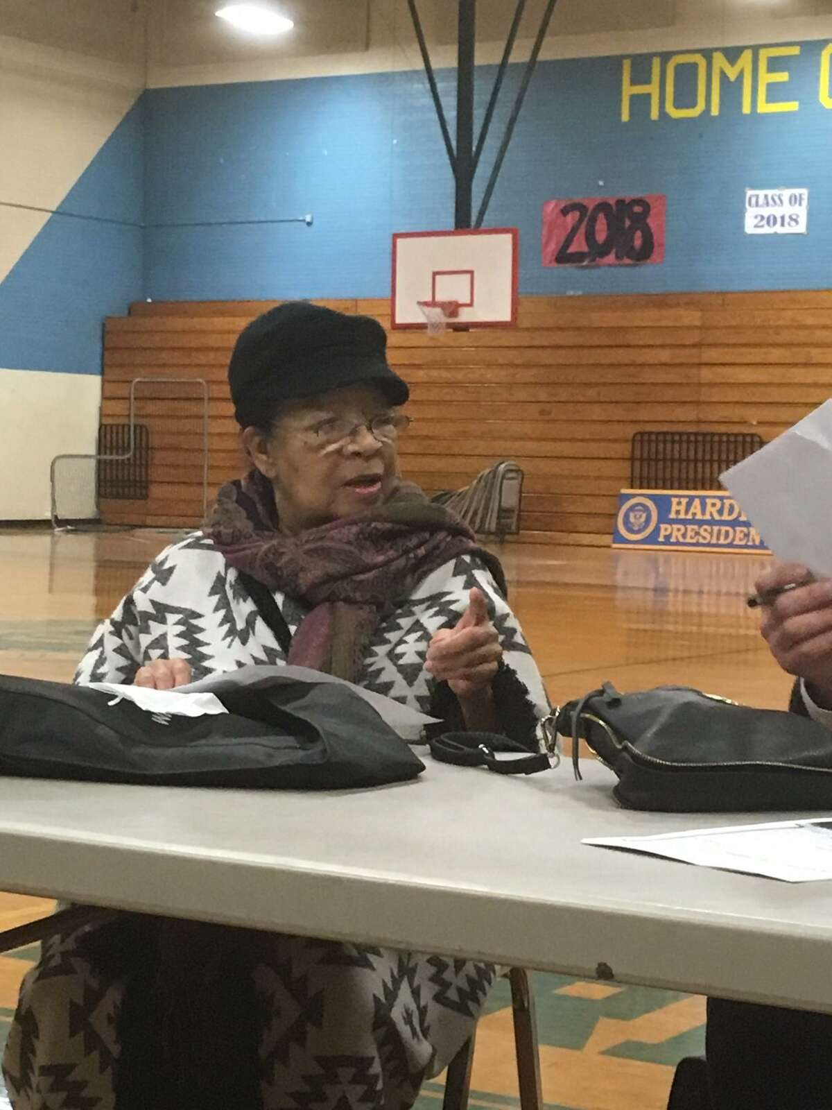 Laurayne Farrar James advocates for Bridgeport' Harding high to be renamed after her aunt, Lillian Whiting Hamilton, the city's first African American teacher. April 25, 2018