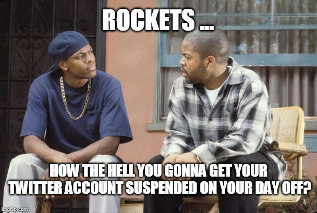 Some of the internet's reactions to the Houston Rockets' Twitter account being suspended on Monday, May 20, 2019.