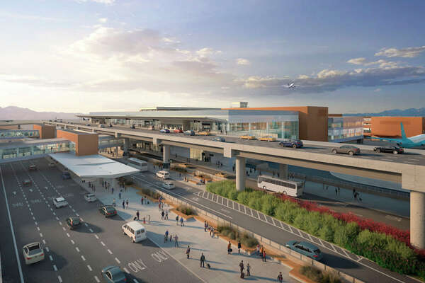 Rendering of Salt Lake City's airport after ongoing reconstruction.
