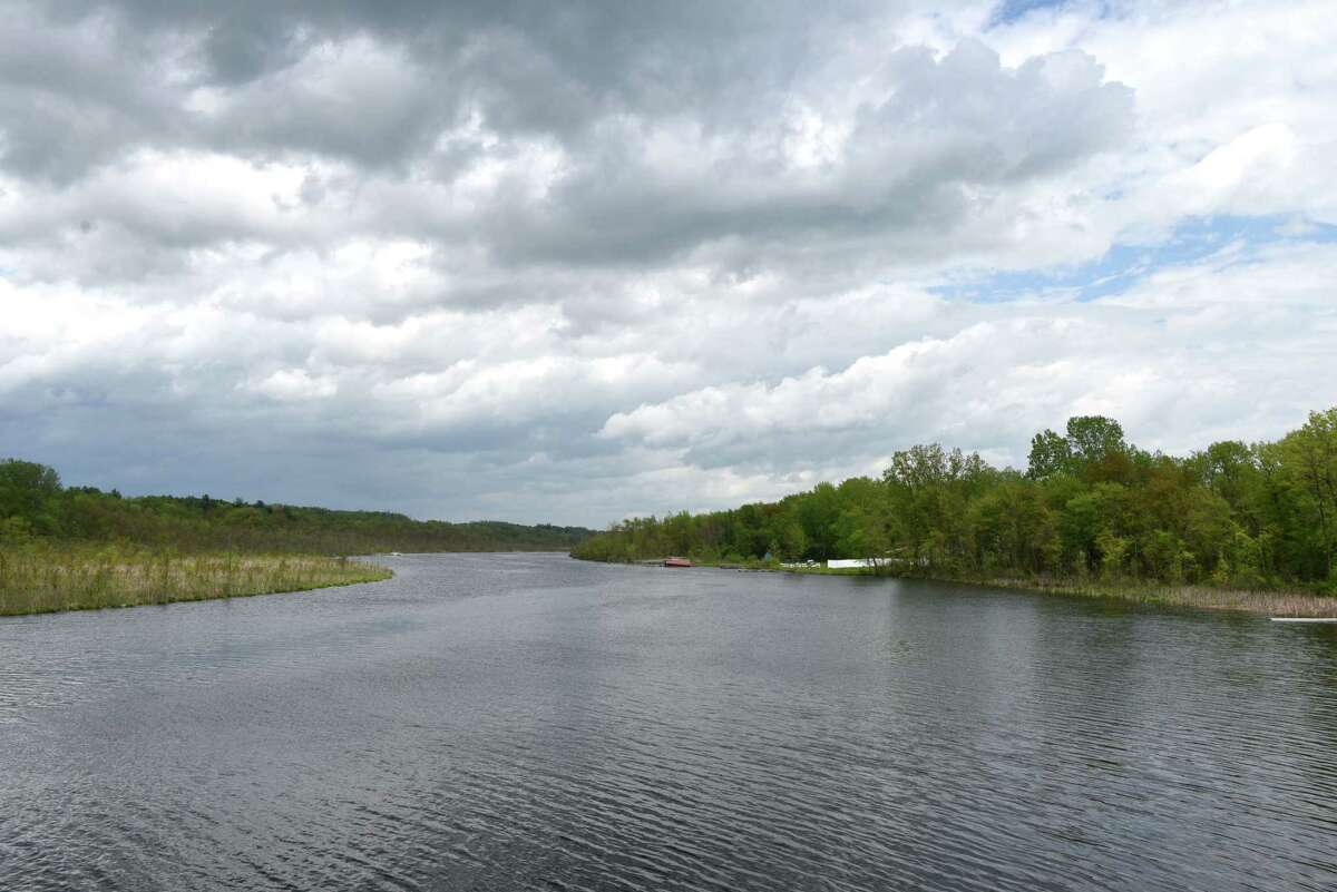 View of Fish Creek from Route 67 on Monday, May 20, 2019, in Saratoga, N.Y. (Will Waldron/Times Union)