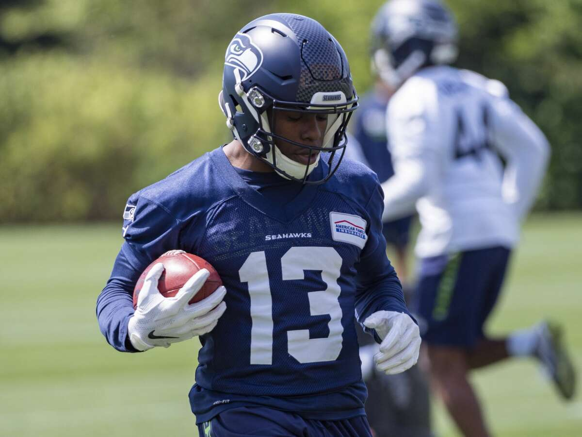RENTON, WA - MAY 04: Seattle Seahawks wide receiver Floyd Allen (13) performing drills during the Seahawks Rookie Mini-Camp on May 04, 2019, at Virginia Mason Athletic Center in Renton, WA.(Photo by Joseph Weiser/Icon Sportswire via Getty Images)