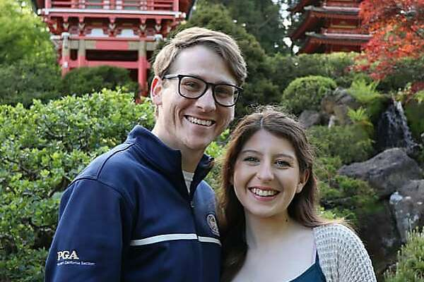 Taleah Montanez and boyfriend Matthew Grimshaw. Montanez, 18, was driving on Kirker Pass Road on Sunday when she struck a signal pole, authorities said.