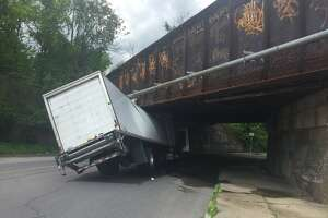 A portion of North Pearl Street in Albany was closed off to traffic Monday afternoon, May 21, after a truck got stuck under a train bridge.