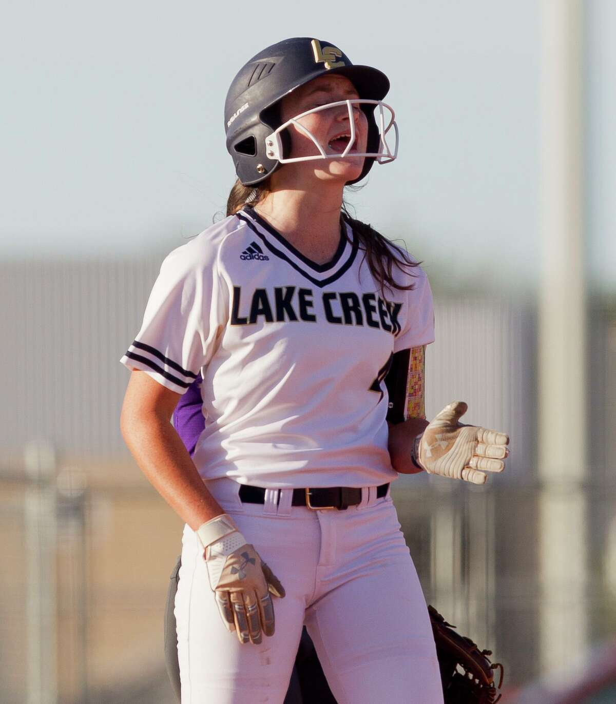 Caelee Clark (4), pictured here in 2019, is one of a handful of varsity returners for Lake Creek as it enters its third season.