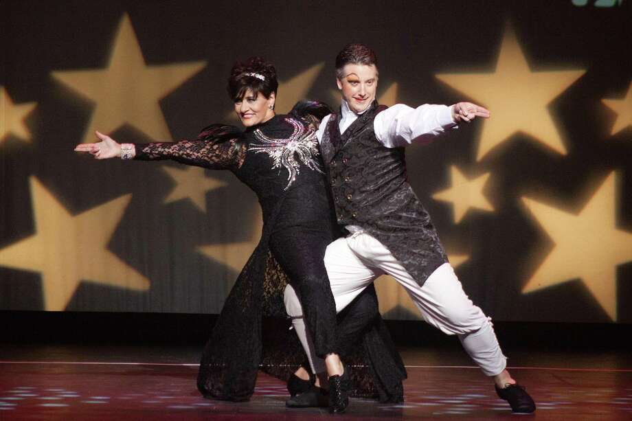 Pina Abbazia, from F.A. Bartlett Tree Experts, and her professional partner, Justin Allen, of Arthur Murray Greenwich, won the Judges' Choice Award in the female division during Curtain Call's Dancing with the Stars event Saturday, May 18, 2019 at the Palace Theatre.  Photo: Fotosbyfailla.com / Contributed Photo / Stamford Advocate contributed