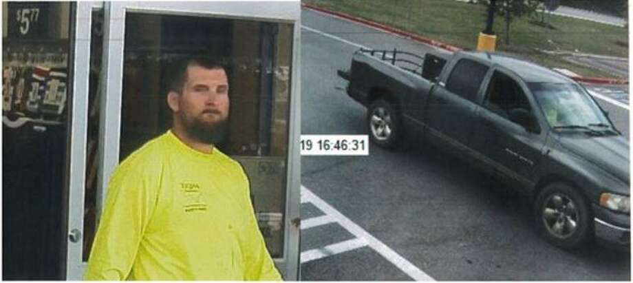 A man is seen in surveillance video from a New Caney Walmart parking lot where he allegedly stole a backpack containing a firearm. Photo: Courtesy Of The Montgomery County Sheriff's Office