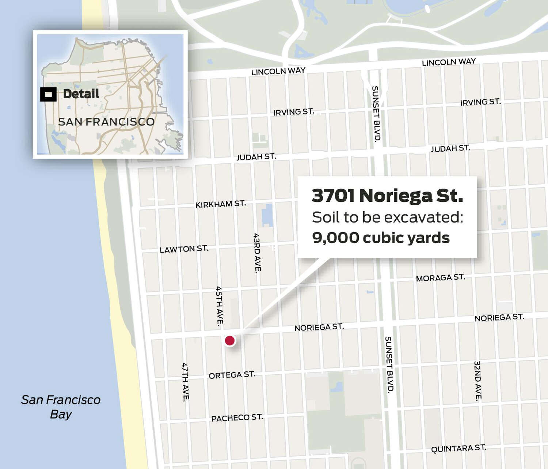 Map of 3701 Noriega Street