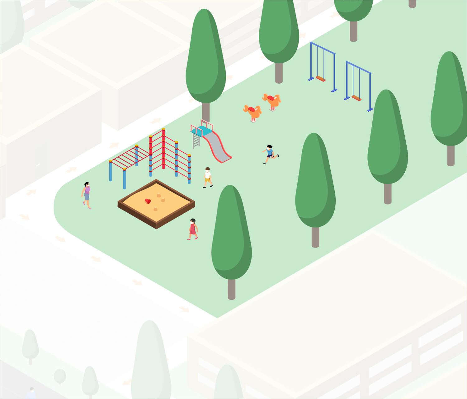 Drawing of playground.