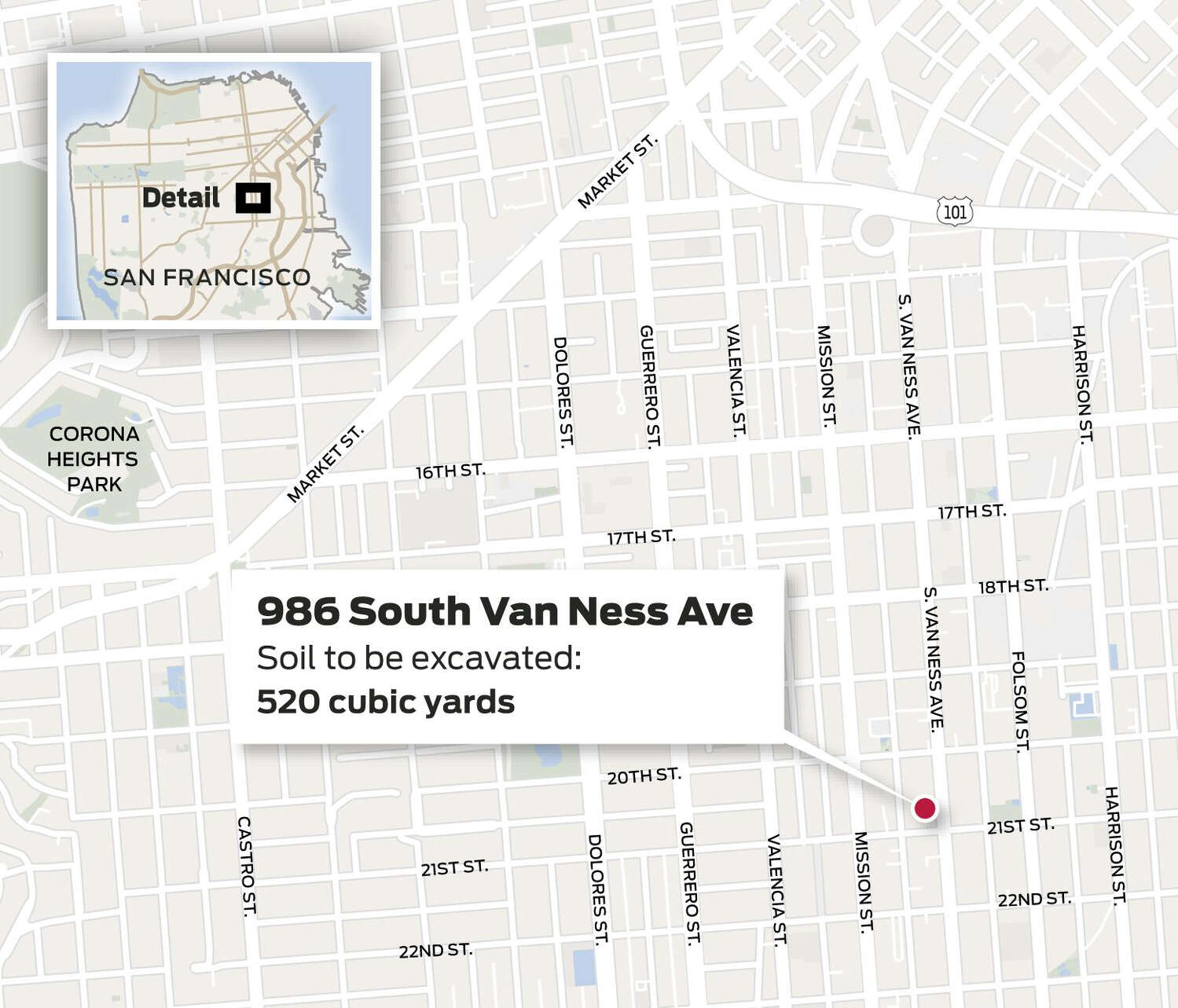 Map of 986 South Van Ness Avenue