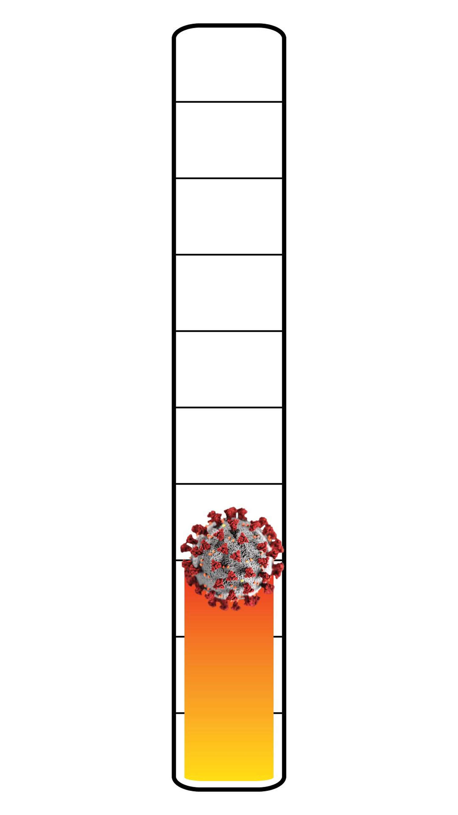 Meter: 3/10. Icon of the coronavirus.