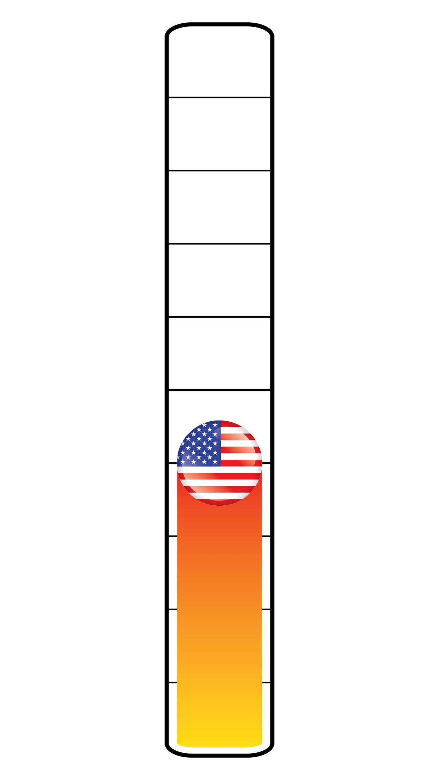 Meter: 4/10. Icon of the U.S. flag.