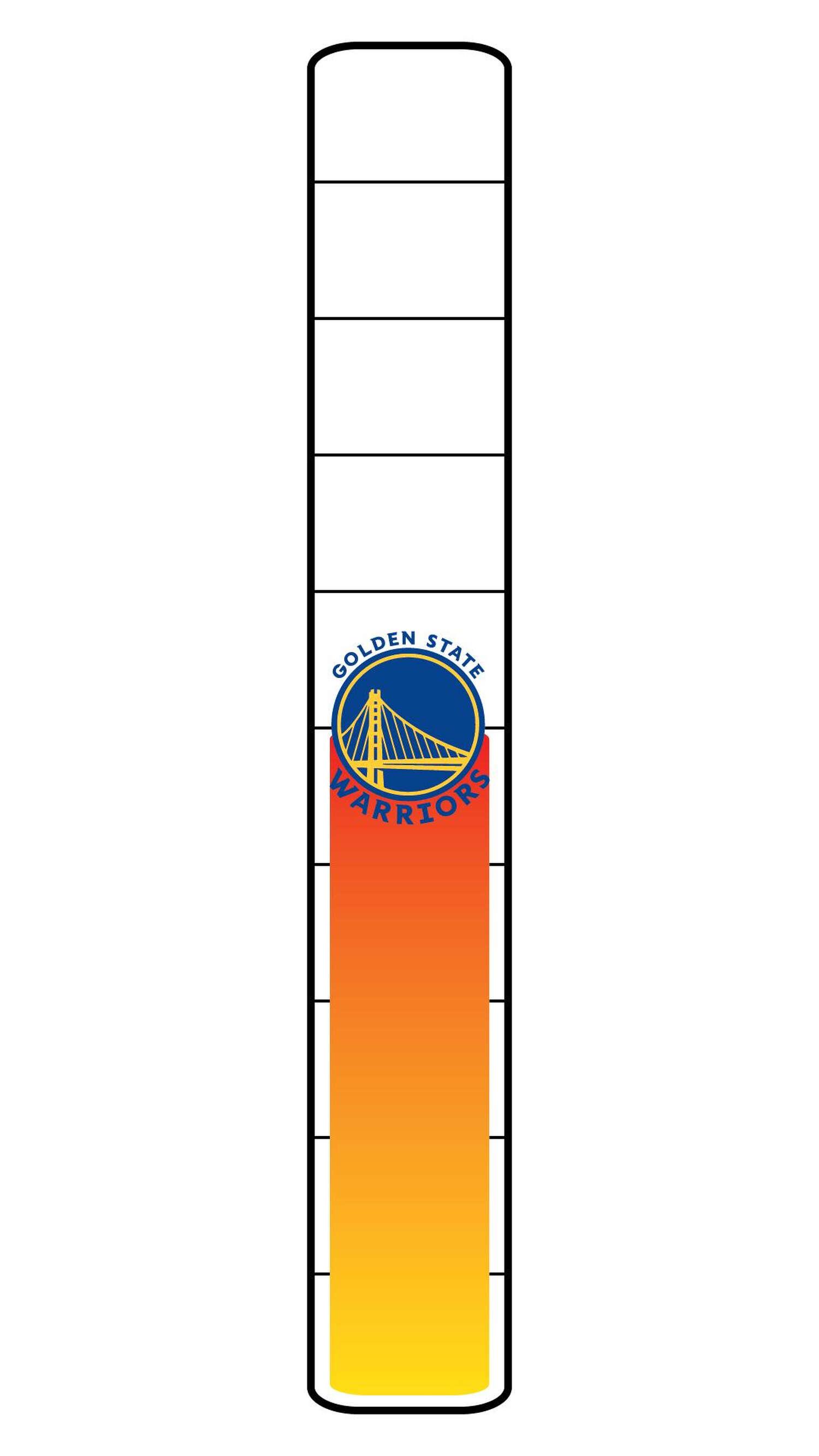 Meter: 5/10. Warriors logo icon.