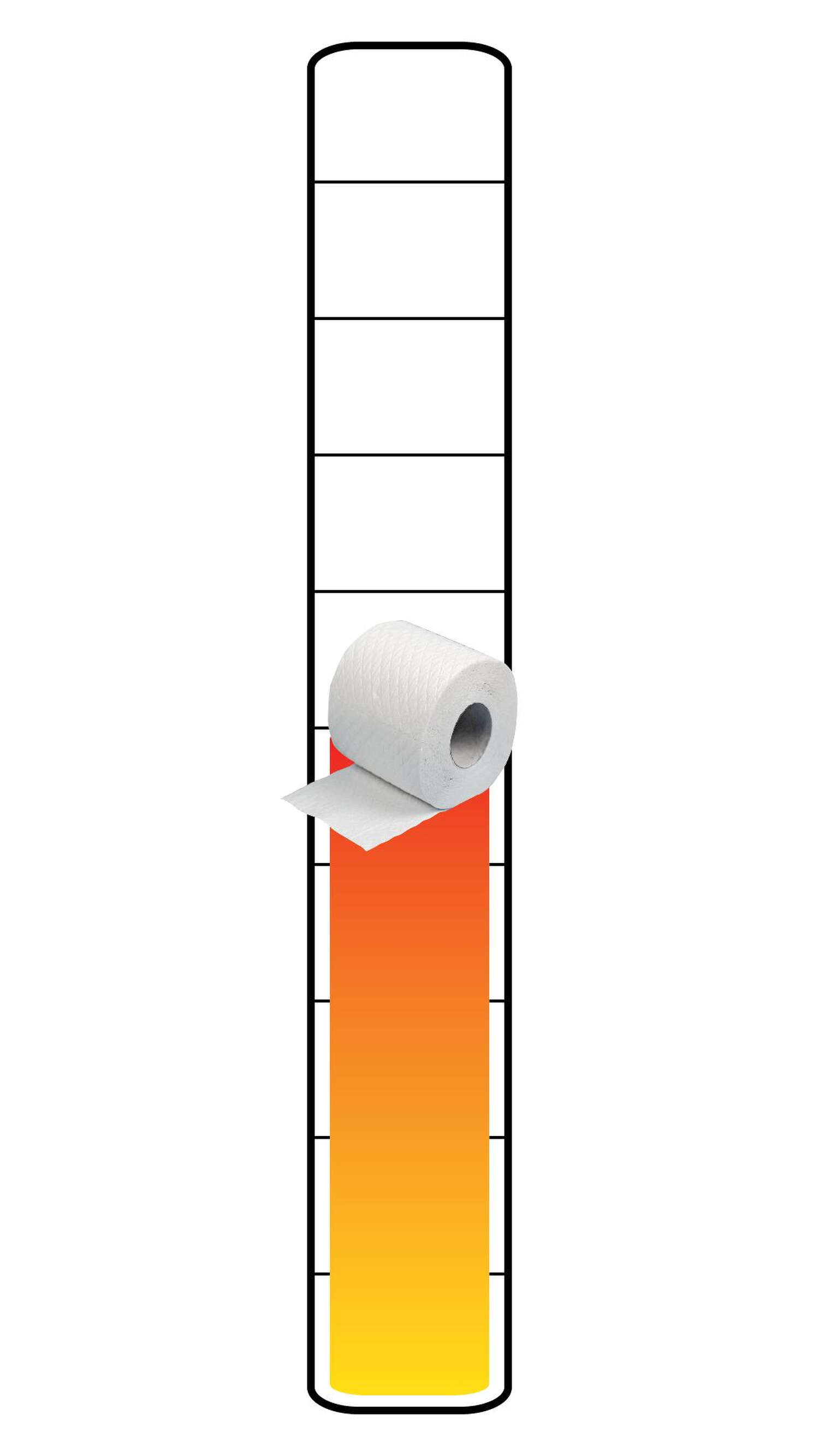 Meter: 5/10. Toilet paper icon.