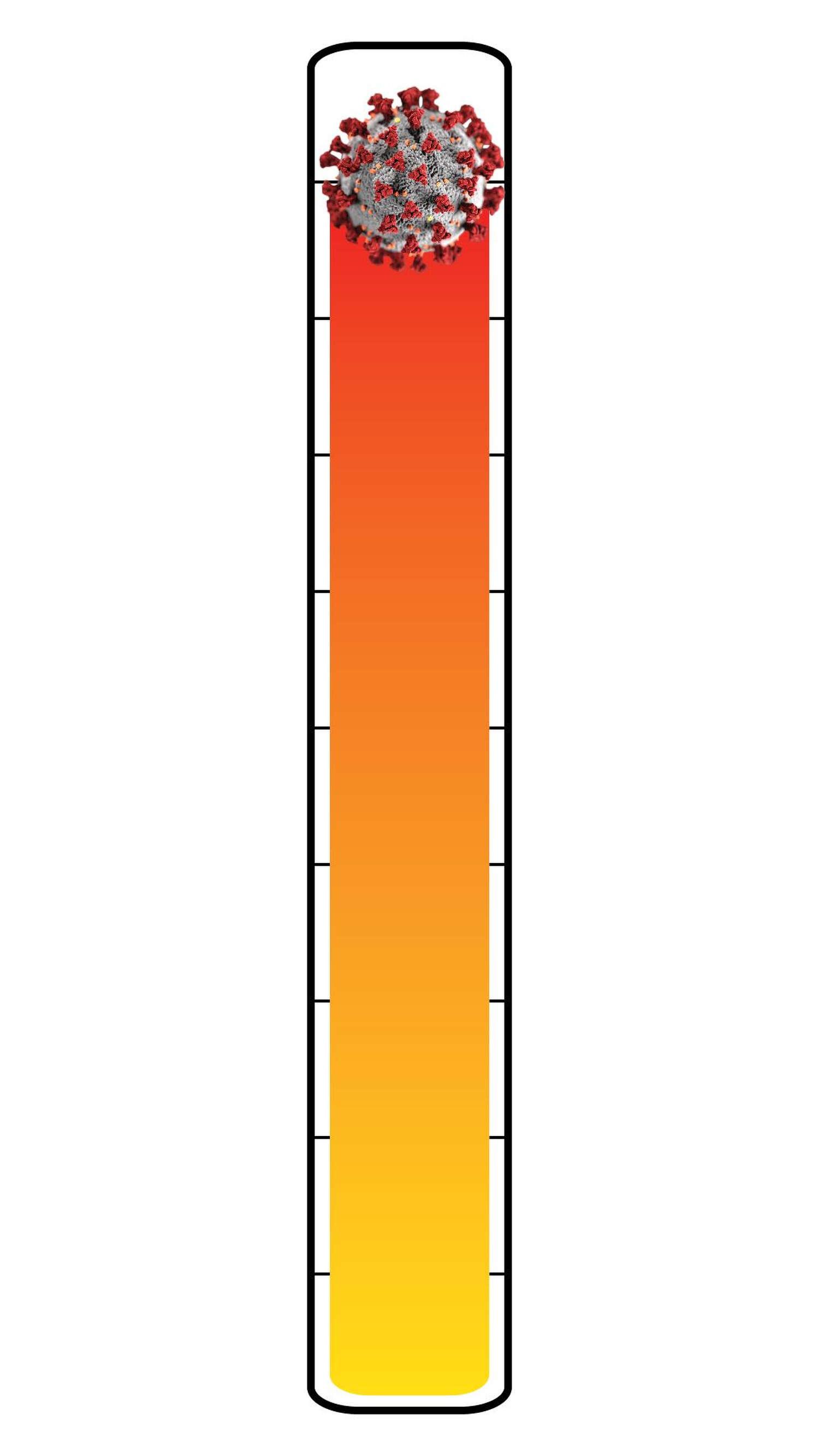 Meter: 9/10. Coronavirus icon.