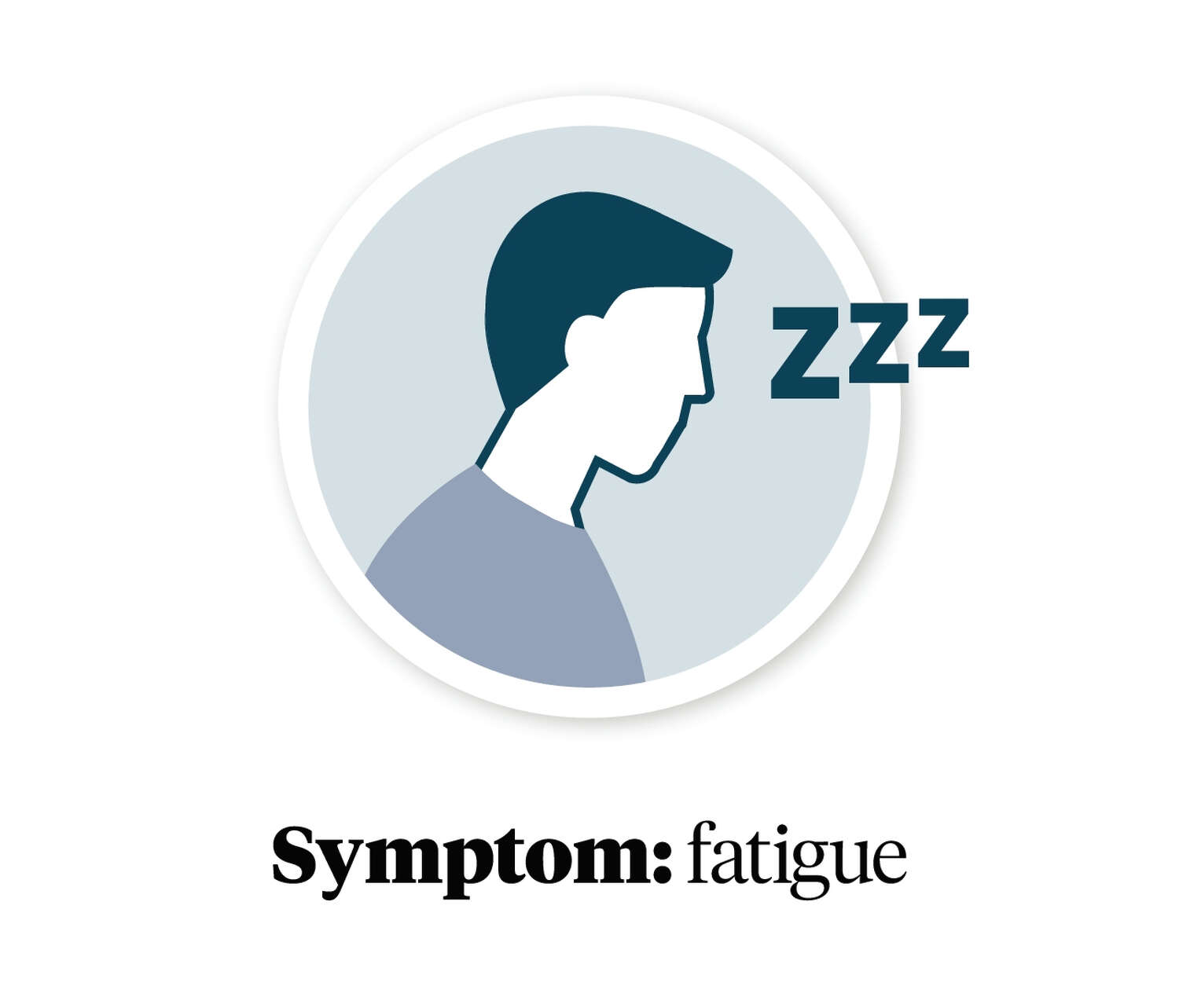 Graphic showing a person with fatigue