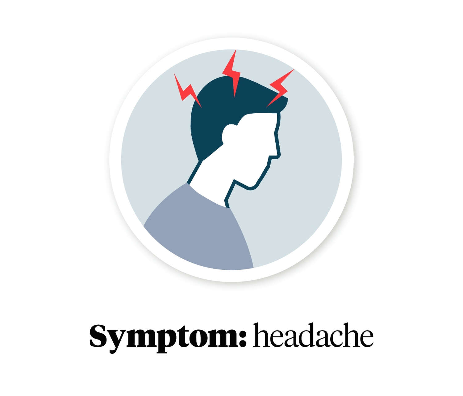 Graphic showing a person with a headache