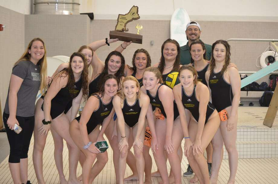 The Greenwich Academy water polo team won the NEPSAC championship for the fourth straight season with a 12-9 win over Williston Northampton School at the title match at Phillips Exeter Academy on Sunday. Photo: Contributed Photo / Greenwich Time Contributed