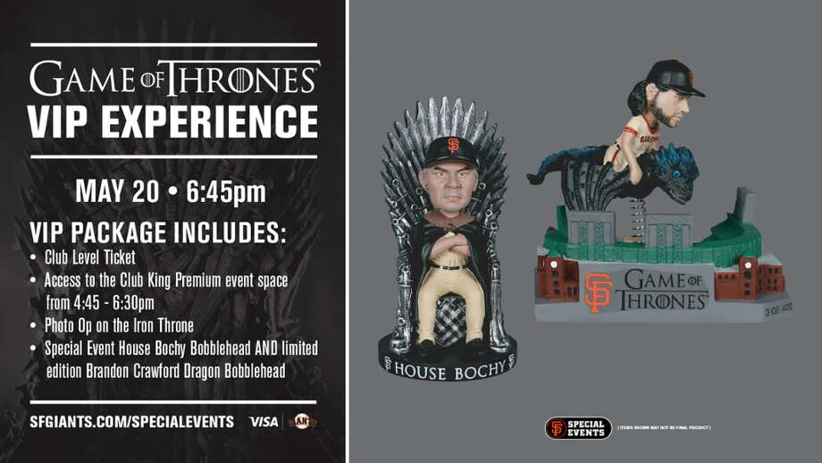 The Giants say two ticket packages for Game of Thrones fans sold out well in advance of Monday night's game. Photo: San Francisco Giants