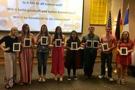 Eight local seniors received Rotary Club scholarships this week.