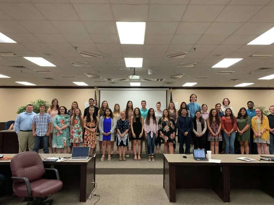 Plainview ISD School Board recognized honor students on Thursday at its monthly meeting. Photo: Gerardo Villavicencio, Plainview ISD/Courtesy Photo
