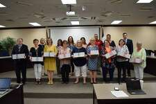 Plainview ISD School Board recognized retiring district personnel on Thursday at its monthly meeting.