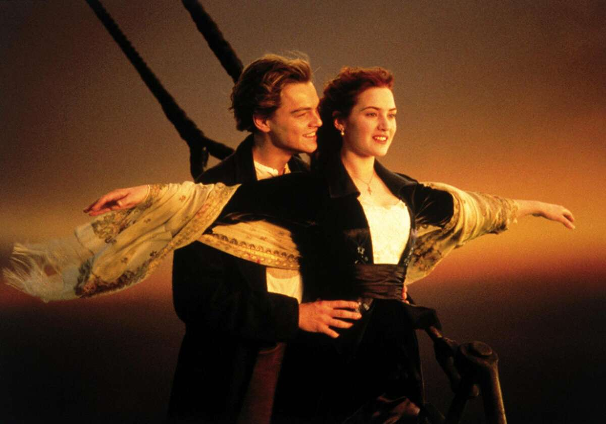 """This image released by Paramount Home Entertainment shows Kate Winslet and Leonardo DiCaprio in a scene from, """"Titanic."""" Producers of the ambitious musical retelling of the famous 1912 sea tragedy said Thursday, Jan. 16, 2014 that a revival will be steaming back to Broadway in the fall 2014, following a tune-up in Toronto over the summer. (AP Photo/Paramount Pictures)"""
