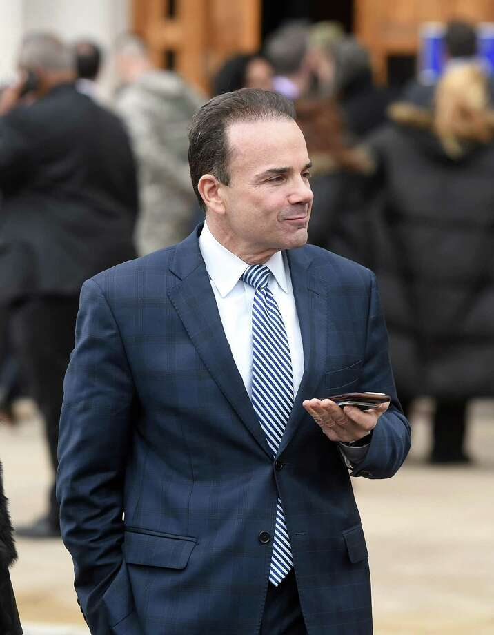 Bridgeport Mayor Joseph Ganim enters the Governor William A. O'Neill Armory for the swearing in ceremony for Governor Ned Lamont in Hartford on Jan. 9. Photo: Arnold Gold / Hearst Connecticut Media / New Haven Register