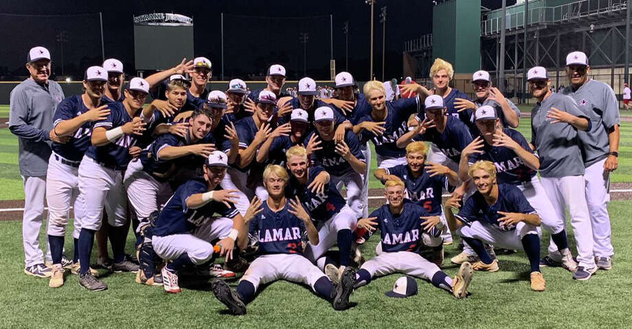 The Lamar baseball team earned a 10-5, 11-5 sweep of Memorial in the Region III-6A quarterfinals May 16-17 at Strake Jesuit. The Texans advanced to the regional semifinals for the first time in eight years. Photo: Lamar High School
