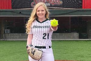 Lutheran South Academy softball pitcher Shelby Smith.