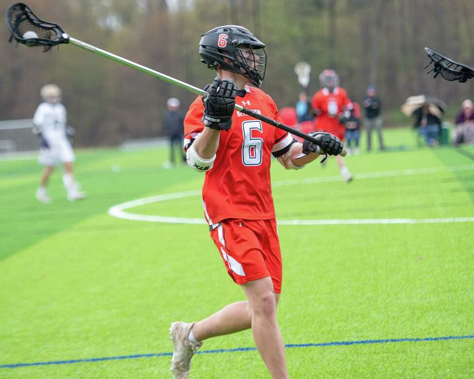 Bethlehem defender Declan Ferris during a Suburban Council matchup against CBA at Afrim?s Sports Park in Colonie on Friday, May 3, 2019 (Jim Franco/Special to the Times Union.)