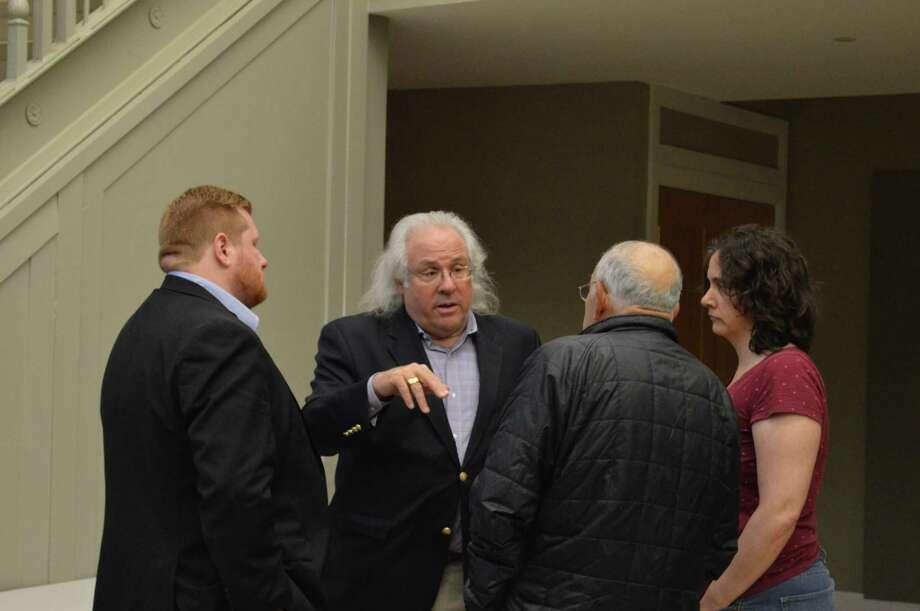 File photo: from left, councilman Brad Macdowall, D-9; the Legislative Council's attorney Steven Mednick; councilman Harry Gagilardi, D-3; and coucilwoman Jody Clouse, D-1, Monday May 20, 2019. Photo: Clare Dignan / Hearst Connecticut Media