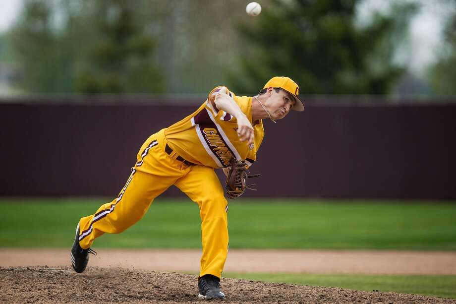 CMU's Jordan Patty delivers a pitch during a game earlier this season. Photo: Cmuchippewas.com