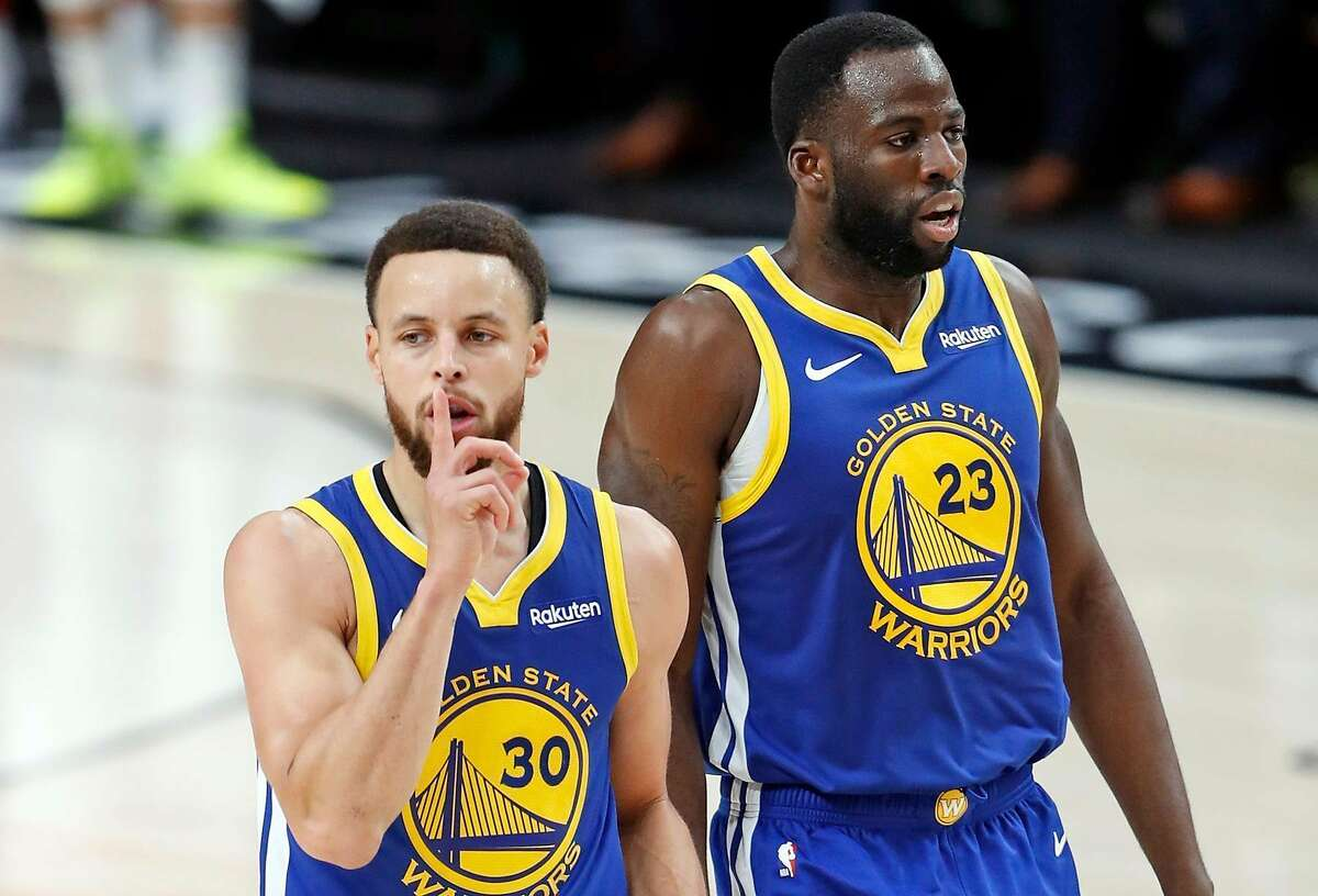 Golden State Warriors' Stephen Curry silences the crowd with a 2nd quarter 3-pointer against Portland Trail Blazers during NBA Western Conference Finals' Game 4 at Moda Center in Portland, Oregon on Monday, May 20, 2019.