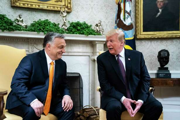 President Trump meets with Hungarian Prime Minister Viktor Orban in the Oval Office in Washington, D.C., on May 13, 2019.