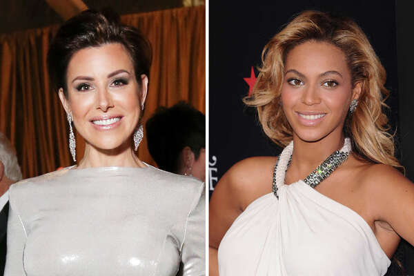 Dominique Sachse and Beyonce are pictured together in this composite photo.