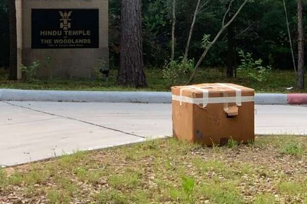 Precinct 3 Commissioner James Noack discovered the package in the way to his office this morning.