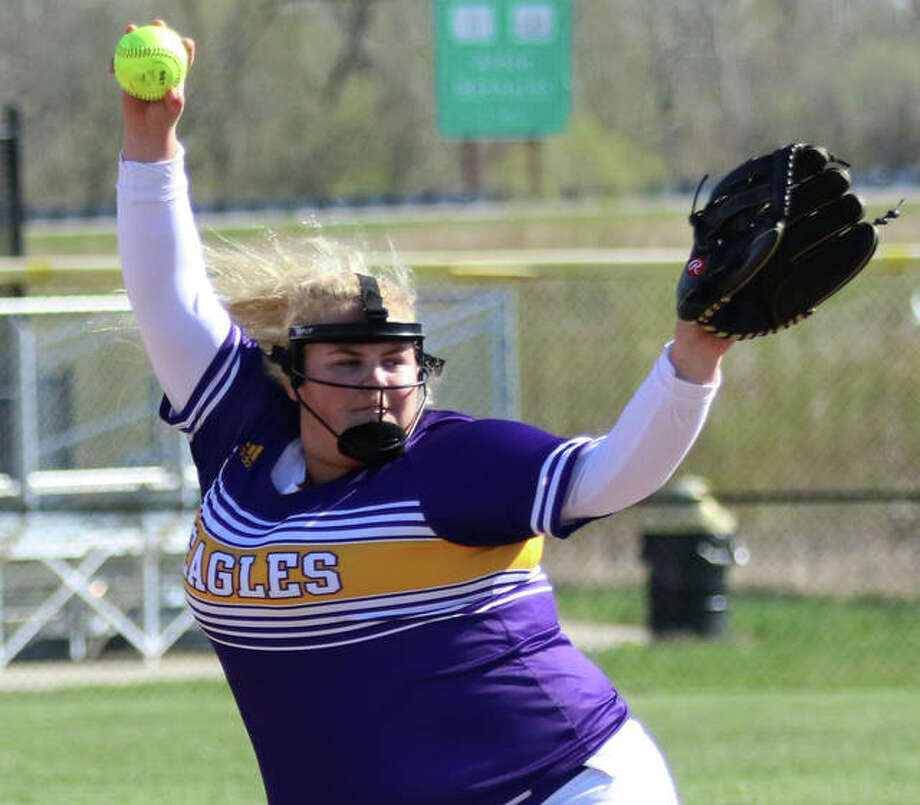 CM pitcher Kaitlynn Wrenn allowed just a run in a complete-game win over Mascoutah on Monday at the Bethalto Class 3A Regional. Photo: Greg Shashack / The Telegraph