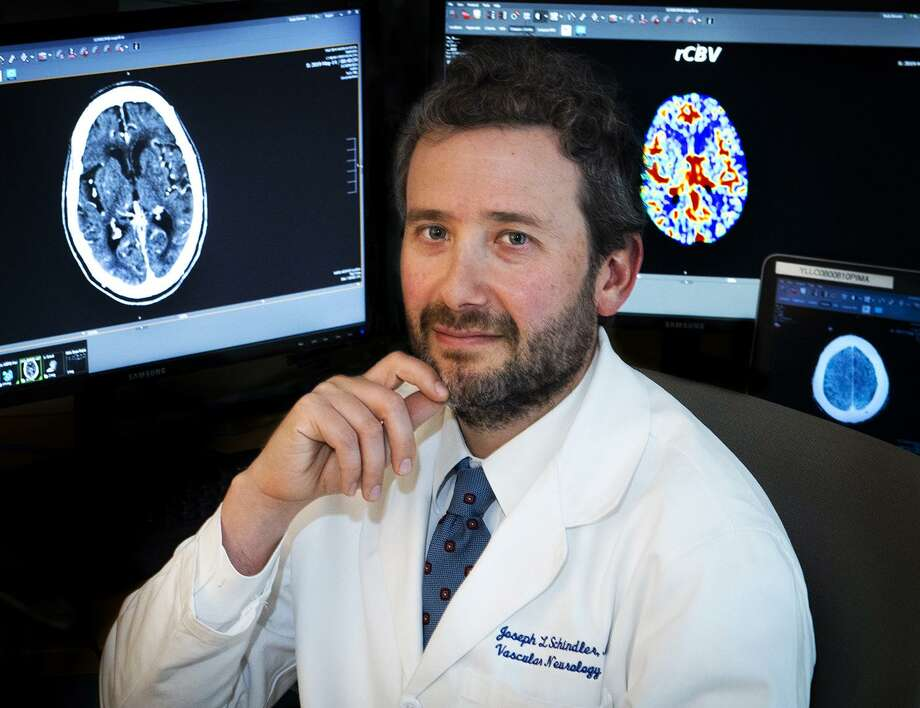 Dr. Joseph Schindler, an associate professor neurology and neurosurgery, director of Acute Stroke and TeleStroke Services and director of the Vascular Neurology Fellowship Program at Yale New Haven. Photo: Melanie Stengel / C-Hit.org / HOT ROD 50