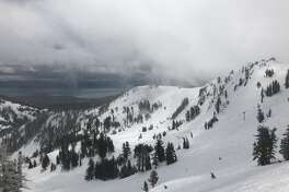 Fresh snow at Alpine Meadows on May 19, 2019.