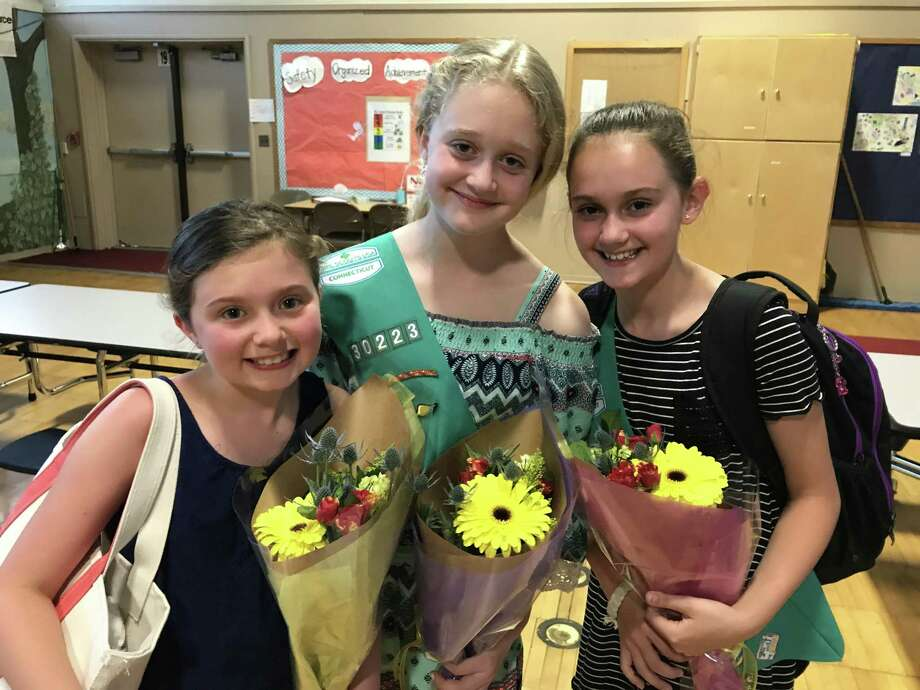 Bronze Award recepients Lizzie Myers, Lily Stasko and Teagan Weber. Photo: Contributed Photo