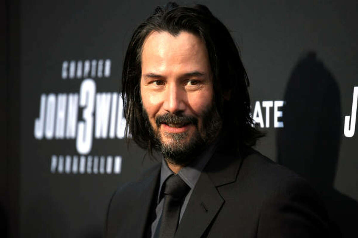 HOLLYWOOD, CALIFORNIA - MAY 15: Keanu Reeves attends the special screening of Lionsgate's