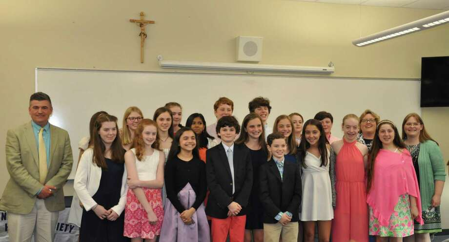 New inductees into the National Junior Honor Society at St. Thomas School. Photo: Contributed Photo
